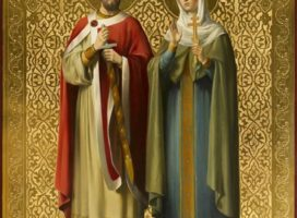 Молебен перед иконой Святых благоверных князей Петра и Февронии Муромских